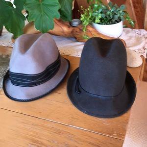 Two winter felt hat
